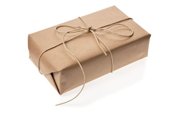 A brown-paper package.
